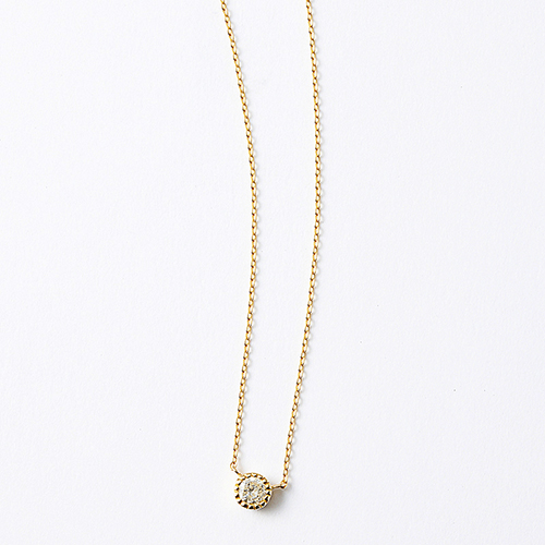 Pure dia necklace