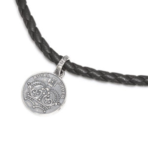 Braided Necklace with crown tips and sp920 charm